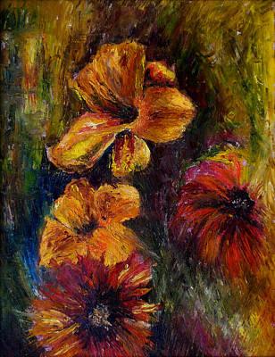 Flora Art Print by Lou Ewers