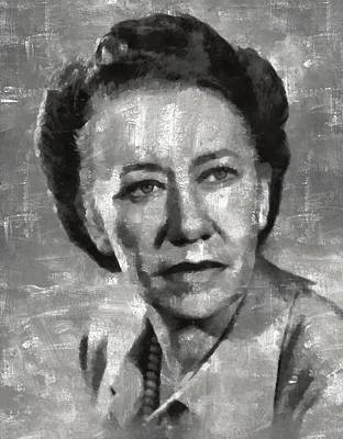 Bewitched Painting - Flora Robson Hollywood Actress by Mary Bassett