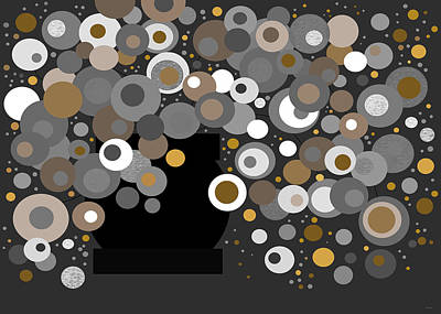 Digital Art - Flora - Shades Of Gray by Val Arie