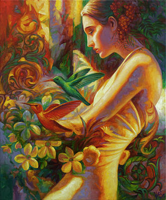 Colibri Painting - Flora by Yury Fomichev