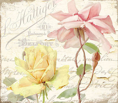 French Script Painting - Florabella Iv by Mindy Sommers