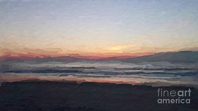 Mixed Media - Florada Beach Sunrise by Anthony Fishburne