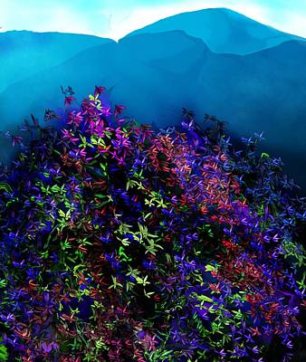Digital Art - Floral 073116 by David Lane