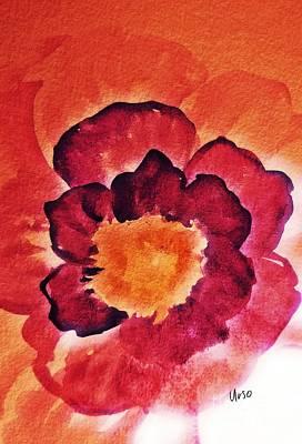 Mixed Media - Floral Abstract 17-01 by Maria Urso