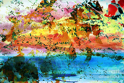Painting - Rustic Landscape Abstract  D2131716 by Mas Art Studio