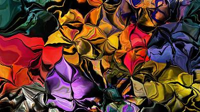 Digital Art - Floral Abstraction 061016 by David Lane
