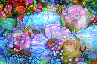 Mixed Media - Floral Abstraction by Lilia D