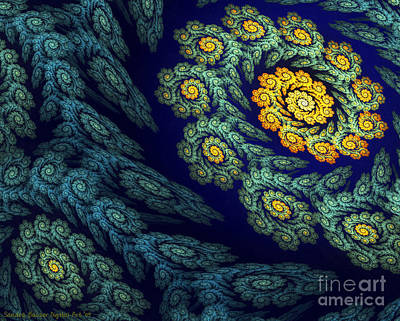 Digital Art - Floral Abyss by Sandra Bauser Digital Art