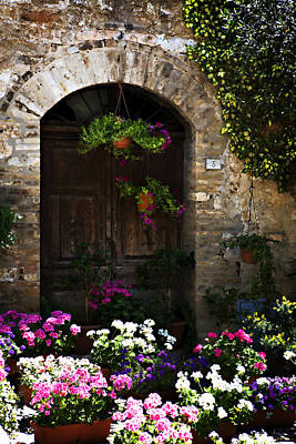 Floral Adorned Doorway Art Print by Marilyn Hunt