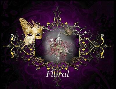 Digital Art - Floral by Ali Oppy