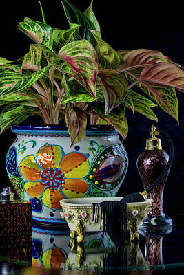 Photograph - Floral And Perfurme Still Life by Ron Grafe