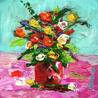 Painting - Floral Arrangement by Janet Garcia