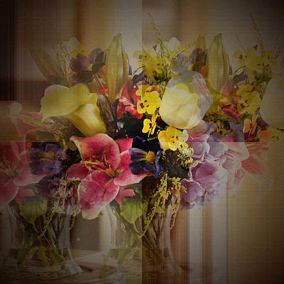 Photograph - Floral Arrangement by Robert G Kernodle
