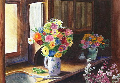 Painting - Floral Arrangements by Karen Fleschler