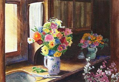 Painting - Floral Arrangements by Karen Fleschler