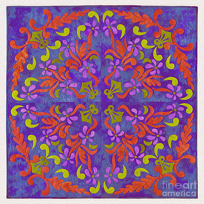 Tribal Art Painting - Floral Art 33uy by Gull G