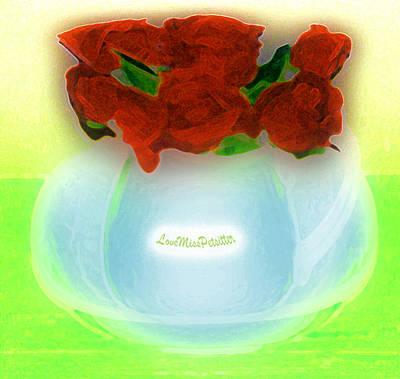 Digital Art - Floral Art 35 by Miss Pet Sitter