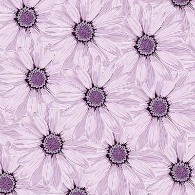 Simplicity Drawing - Floral Background by FL collection