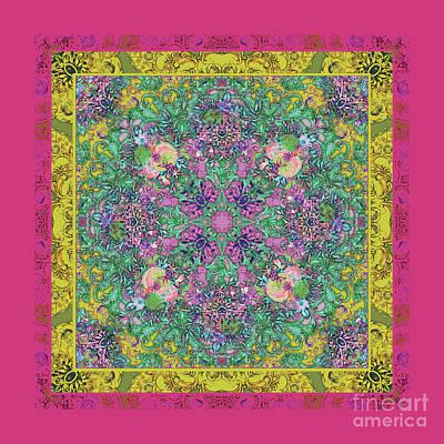 Digital Art - Floral Background by Xrista Stavrou