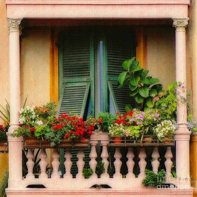 Photograph - Floral Balcony by Sue Melvin