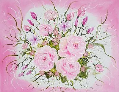 Modern Kitchen - Floral beauty of roses by Angela Whitehouse