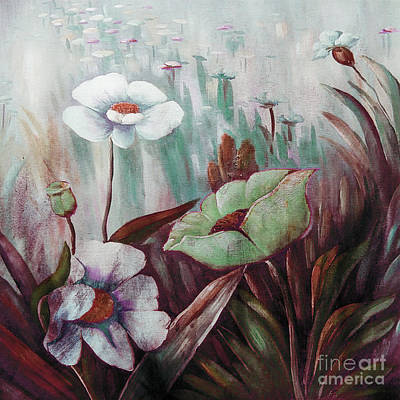 Painting - Floral Blooms  by Gull G