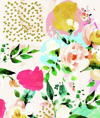 Digital Art - Floral Blush by Uma Gokhale
