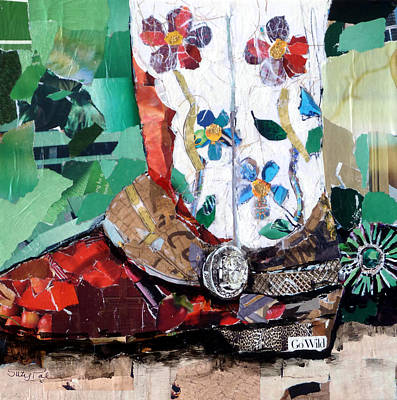 Pals Painting - Floral Boot by Suzy Pal Powell