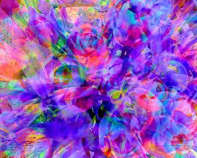 Photograph - Floral Bouquet Abstract by Carolyn Repka