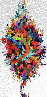 Floral Bouquet Abstraction Original