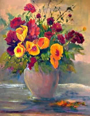 Floral Bouquet Art Print by Jimmie Trotter