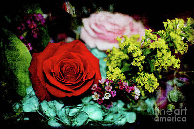 Photograph - Floral Bouquet by Mary Bellew