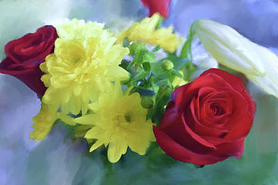 Photograph - Floral Bouquet - Painting by Garvin Hunter