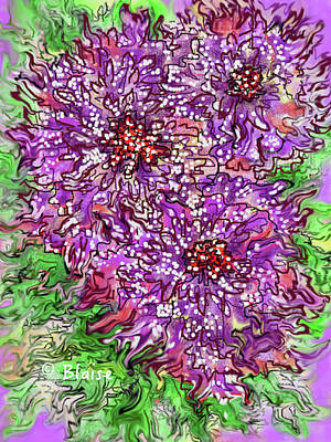 Digital Art - Floral Burst by Yvonne Blasy