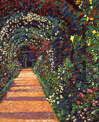 English Garden Painting - Floral Canopy by David Lloyd Glover