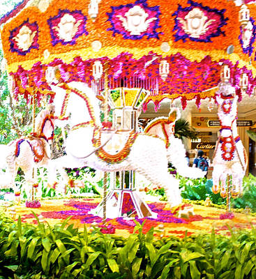 Installation Art Photograph - Floral Carousel Display by Art Spectrum