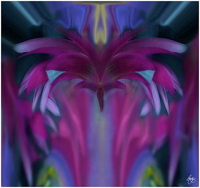 Photograph - Floral Chandelier by Wayne King