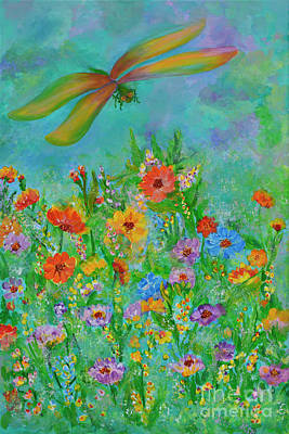 Painting - Floral Cheers by Olga Hamilton