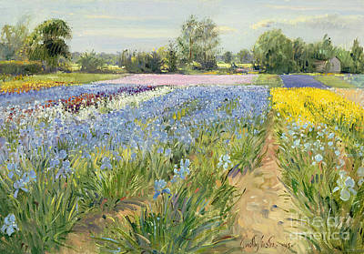 Painting - Floral Chessboard by Timothy Easton