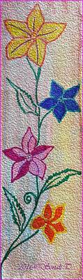 Drawings Royalty Free Images - Floral Climber Royalty-Free Image by Sonali Gangane