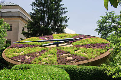 Photograph - Floral Clock In Frankfort by Jill Lang