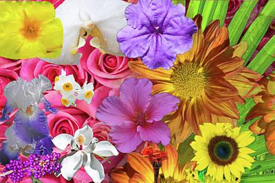 Digital Art - Floral Collage 01 by Gene Norris