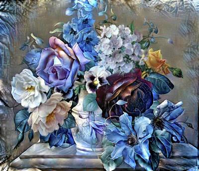 Mixed Media - Floral Composition 8 by Lilia D