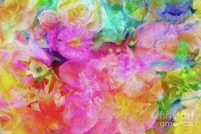 Painting - Floral Composition With Peony Flower by Olga Hamilton