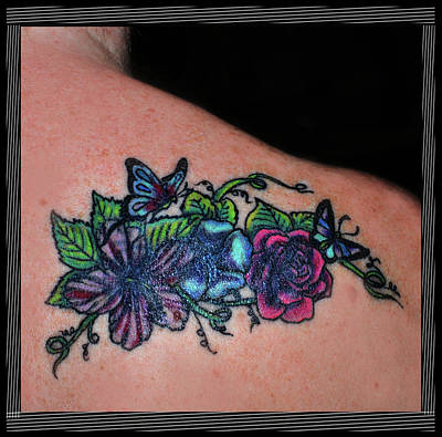 Photograph - Floral Cover Up Tattoo by Amanda Vouglas