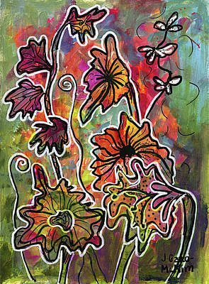 Painting - Floral Creations 1 by Jo-Anne Gazo-McKim