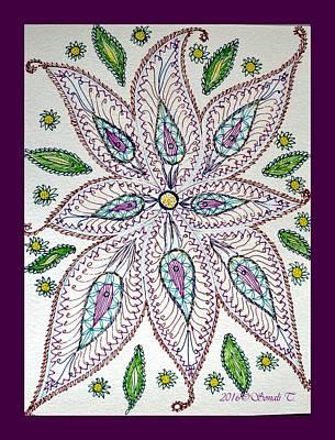 Creativity Drawing - Floral Creativity by Sonali Gangane