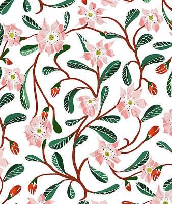 Digital Art - Floral Deco by Uma Gokhale