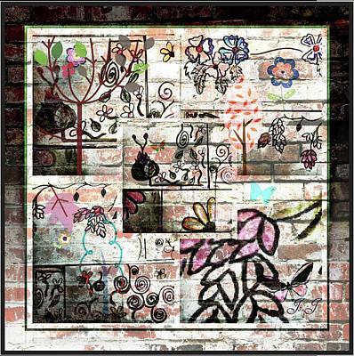 Digital Art - Floral Doodles by Jan Steadman-Jackson