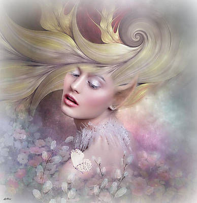 Erotica Mixed Media -  Floral Elf 02 by G Berry